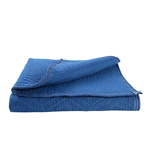 """SOMIDE Moving & Packing Blankets, Multi-Purpose for Sound Barrier, Pet Supplies, Hunting and Outdoor 71""""x 35"""", Blue"""