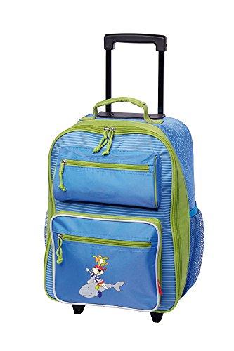 sigikid, Jungen, Kindergepäck Trolley Kleiner Pirat, Sammy Samoa, 40x30x17 cm, Blau/Grün, 24550