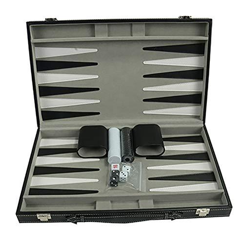 wivarra Juego de Backgammon - Juego de Backgammon CláSico de 14,75 Pulgadas para Adultos, Juego de Mesa para Juego de Backgammon Antiguo, Juego Familiar