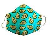 Mascarilla protectora homologada de 3 capas aguacate original divertida con diseño dibujos