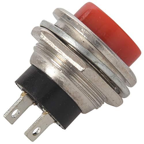 Gesh 10 interruptores momentáneos de empuje para detener (ON), 3 V, 4,5 V, 6 V, 9 V, 12 V, 24 V, color rojo