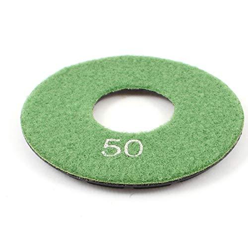 X-DREE Grit 50# 4' 'Disco de almohadilla de pulido de diamante de piedra de hormigón de baldosa de granito verde(Grit 50# 4' granit-e Tile Concrete Stone Diamond Polishing Pad Disc Green