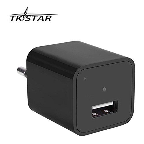 Cargador para cámara de seguridad con Full HD 1920 x 1080, cargador USB y memoria interna de 32 GB