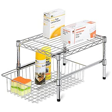 Adjustable Shelf With Under Cabinet Organizer 19 Lx12 Wx5 H