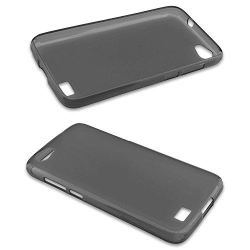 caseroxx TPU-Hülle für Doogee T6, Tasche (TPU-Hülle in schwarz-transparent)