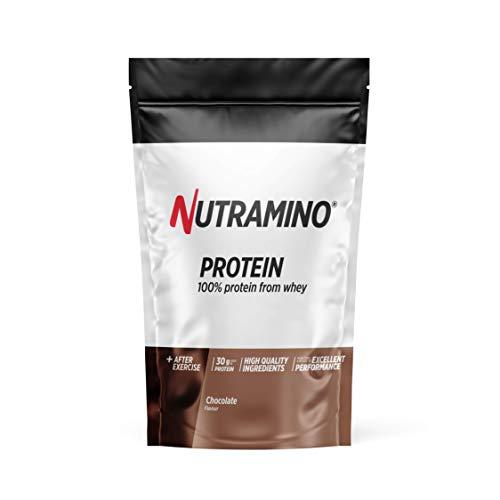 Nutramino Proteine Whey in Polvere con Proteine Isolate per Crescita e Mantenimento Massa Muscolare, Gusto Cioccolato - 1000 Gr