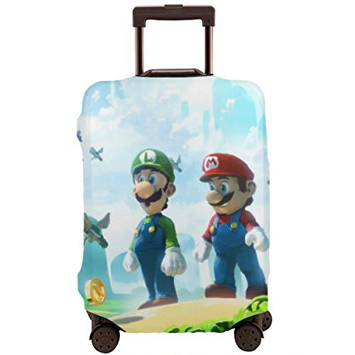 Funda para equipaje de viaje, diseño de dibujos animados de Super Mario Bros, fundas protectoras con cremallera, lavables
