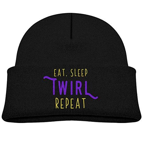 Eat Sleep Twirl Repeat Beanie Hat Baby Girl Boy