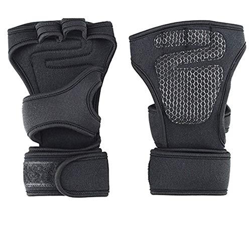 Inicio Equipo de gimnasio 1 par de silicona antideslizante guantes guantes de la gimnasia del levantamiento de pesas de los guantes de pull ups Cruz Entrenamiento Físico Culturismo Deporte para gimnas