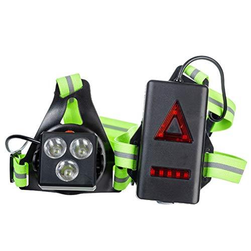 Luz de correr, recargable por USB, luz de pecho para correr, pesca, senderismo y seguridad al aire libre