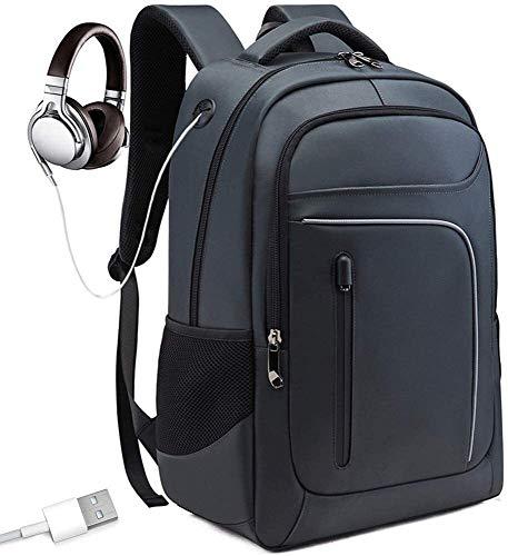 tgbnh Zaino, Computer Backpack School Business Trip Bag Trend Zaino USB Socket Uomo e Donna Zaino (Color : LightBlue)