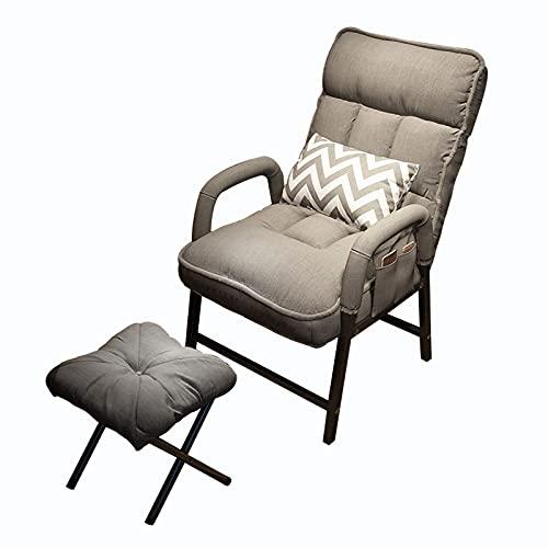 BAIHAO Sillón reclinable Moderno Sillón reclinable con Respaldo Ajustable con reposapiés para Sala de Estar y Dormitorio Silla reclinable para el hogar