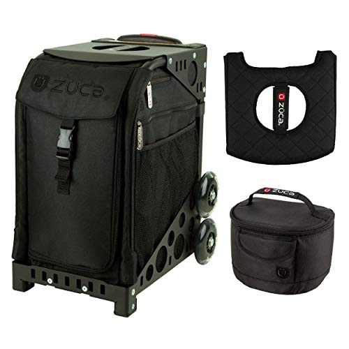 Zuca Sport Bag - Stealth with Gift Lunchbox and Seat Cover (Black Plain Frame)