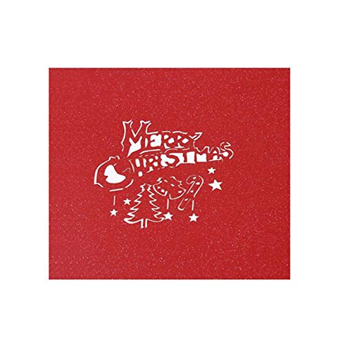 Holiday Card Wishes Elderly Greeting Card 3D Design The Best Gift For Family And Friends Metallic Cover Christmas Pop-Up Card Greeting Card
