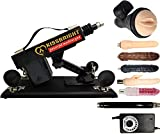 Adult Female Massage Machine Gun Set of 6 Adult Toys Powerful Telescopic Massage Machine (Black)