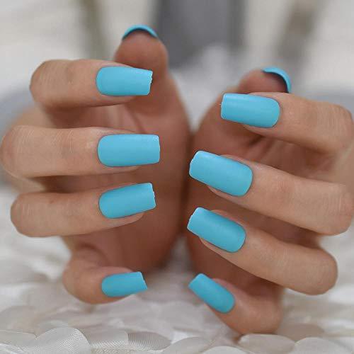 CSCH Faux ongles Glitter Stiletto Nails White Silver Powder Nails Medium Artificial Bright Drill False Nail Pré-conçu 24
