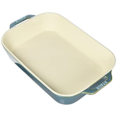 Staub 40511-890 Baking-Dishes Rectangular, 13  x 9 , Rustic Turquoise