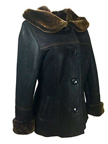 DX Leather Products -  Cappotto  - Donna Black X-Small