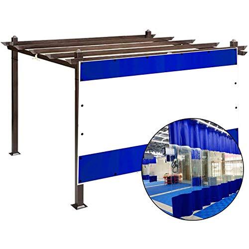 Lona alquitranada Panel Lateral de La Tienda de Repuesto, Terrazas Cortinas Impermeables, Lona Revestida Azul con Costura de PVC Transparente de 0,5 mm, para Marquesinas, Gazebo