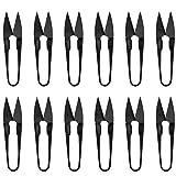 DOITOOL 12 Piezas Tijeras de Coser u Tijeras de Corte Bordado Hilo de Pesca Cortador pequeños Recortes recortador Pinza para Puntada Suministros de Bricolaje (Negro)