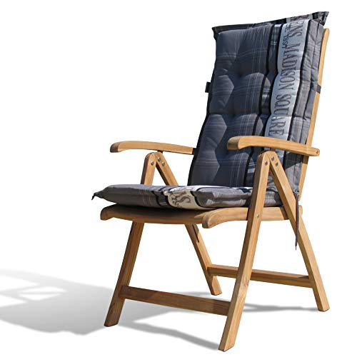 GRASEKAMP kwaliteit sinds 1972 teak stoel met kussen Garden Grey tuinstoelen klapstoel teak hout tuinmeubelen