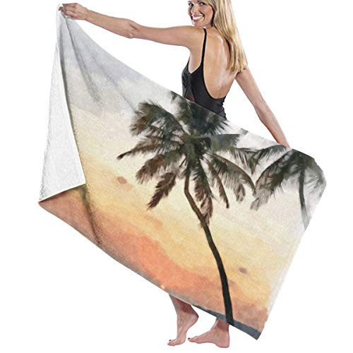 Tsjkwo Oil Painting Art Print for Wall Decor Acrylic Artwork Big Si J Quick-Drying Beach Towel The Best Lightweight Bath Towel for Swimming Beach (32 x 52) inches