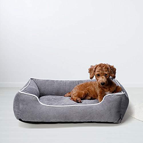 Queta - Cuccia calda per cani e gatti, bella cuccia per animali domestici, morbida, lavabile, rettangolare, 54 x 43 cm