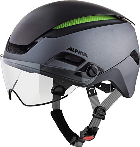 ALPINA ALTONA M Fahrradhelm, Unisex– Erwachsene, charcoal-anthracite, 57-62