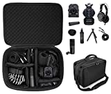 getgear All in one case for Zoom Portable Handy Recorder Compatible with Zoom H8, Q2n-4K, H6, H5, H4 and Headphones, Microphones, Stands, Charger, Cords and Tablet/Laptop