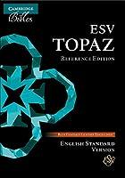 ESV Topaz Reference Edition, Dark Blue Goatskin Leather, ES676:XRL