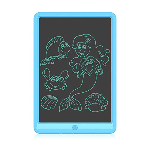 Tableta de Escritura LCD de 13 Pulgadas, Ewriter Colorido Tablero de Dibujo Borrable, Tablero de Escritura Reutilizable, Tablero de Escritura Electrónico para Niños y Niñas, Regalo Educativo(Azul)