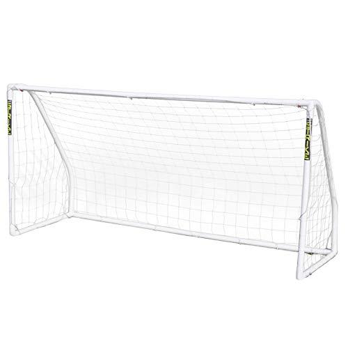 Airwave Strike Kid's Weatherproof Football Goal, White, 8x6ft
