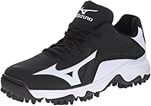 Mizuno Men's 9 Spike Advanced Erupt 3 bk-wh, Black/White, 10 M US