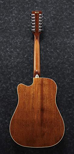 Ibanez Performance Series PF1512CE-NT - Guitarra electroacústica de 12 cuerdas, color natural brillante