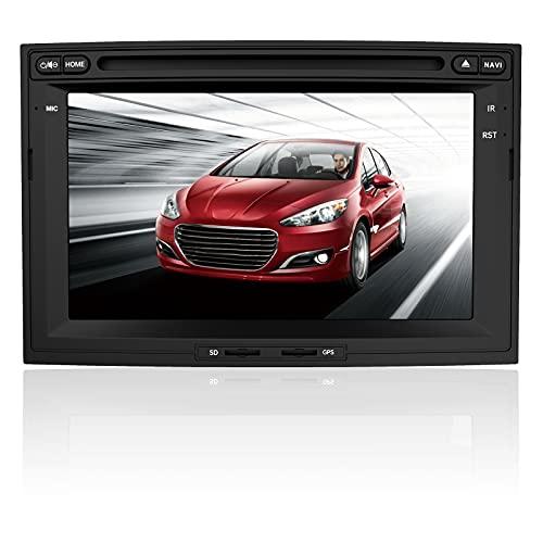 AWESAFE Autoradio 2 Din pour Peugeot 3008 5008,Lecteur DVD CD Multimédia avec Navigation GPS 7  Écran Tactile HD Commande au Volant Mirrorlink Appel Bluetooth FM Vue Arrière de Recul RDS Télécommande