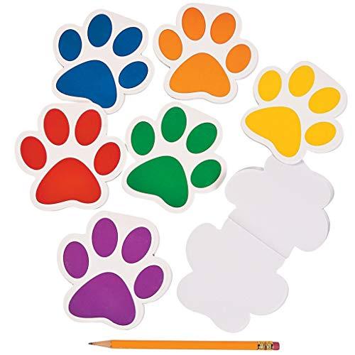 Elfen und Zwerge - Notizblock Pfote - Pfotenabdruck - Malblock für Kinder mit Tiermotiv- Mitgebsel - blanko - 6 Stück