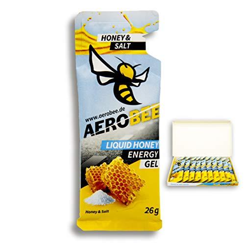 AEROBEE Energy Gel | Honey & Salt Liquid | 10 Pack x 26 g | 100% Natürliche Energie für Ausdauersport | Schnelle und Dauerhafte Energie | Sehr Bekömmlich und Einzigartig im Geschmack