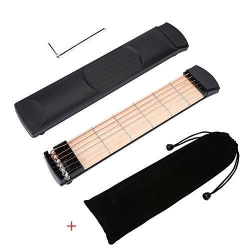 VGEBY Pocket Gitarre, 6 Fret Saiten Taschen Gitarre Praxis Tool Gadget Guitar Trainer für Anfänger