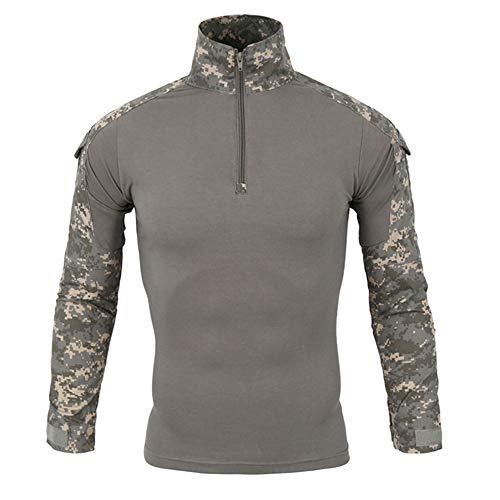 Dragon868 Herren Taktik Armee lang-Ärmel Beefy Muskel grundsolide Bluse t-Shirt Top