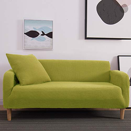 NOBCE Funda de sofá Funda de sofá elástica para Sala de Estar Sofá de Esquina seccional Moderno Funda de sillón Funda de sofá Amarillo 145-185CM