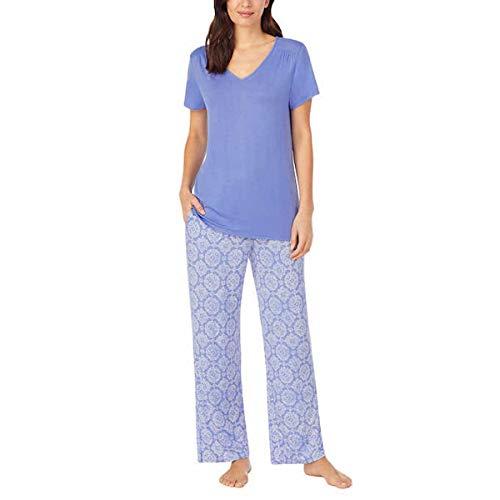Carole Hochman Midnight Women's 2 Piece Super Soft Pajama Set (Blue, x_l)