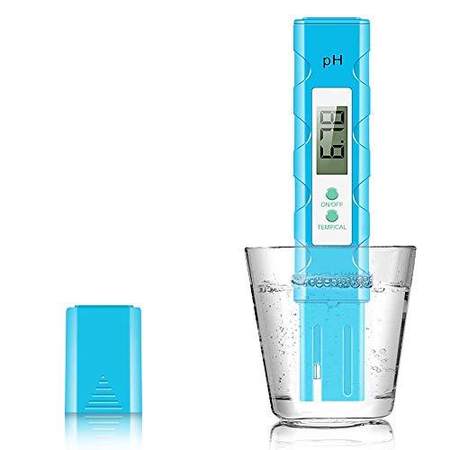 Achort Medidor de pH Digital, 0.01 PH Prueba de Calidad del Agua Pluma Medidor de pH de Alta precisión, 0.00-14.00 PH Medidor de pH para Agua Potable, Acuario, Piscina, hidroponía y más
