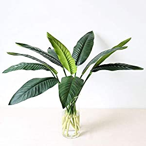 SoniDasTore 1pcs pu real touch artificial leaf bird of paradise fake flowers simulation plants home or leaves flowers artificial dried