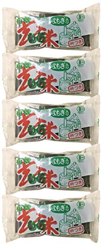 無添加お餅 よもぎ玄米餅 300g(6個入り)×5個 ★ 宅配便 ★ 有機JAS(無農薬・無添加)★国内産100%