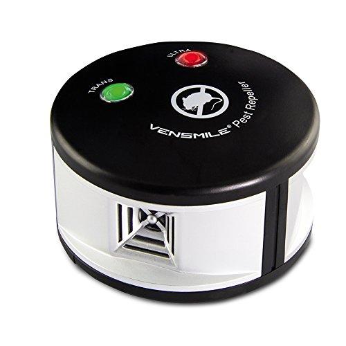 VENSMILE Repellente Ultrasuoni per Topi scaccia Topi trappole per Scoiattolo Prodotti Anti-roditori Alta Potenza (1, Black)