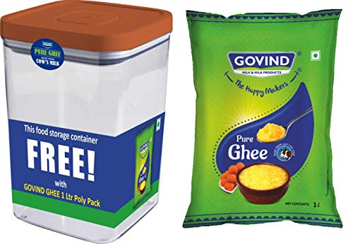 Govind Cow Ghee 1L Pouch with Free Container