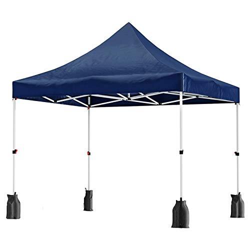 WSN Garten-Pavillon, Anti-UV-Pop-Up Überdachung-Zelt, Wasserdicht Partei Shelter, mit Sandsäcken, Pegs, Seilen und Wheeled Carry Bag