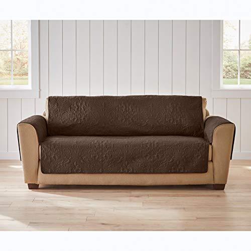 BrylaneHome Pinsonic Sofa Pet Protector, Chocolate
