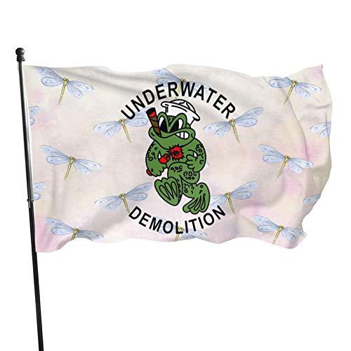 ZPHGMCOC UDT Navy Seal Flag 35 Feet Single Traveling Vivid and Fade Funny Polyester Flag