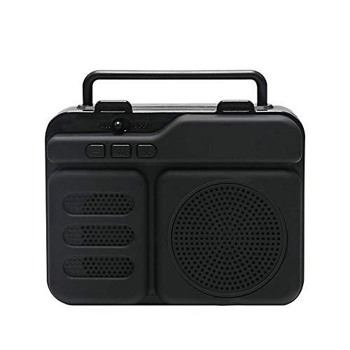 TIANYOU Altavoz Bluetooth, Altavoz Al Aire Libre Portátil, Estéreo de 360 ° Tws, Super Bass, Tarjeta de Soporte Tf, Usb, Fm, Aux, Antena Externa, Rojo Contrabajo